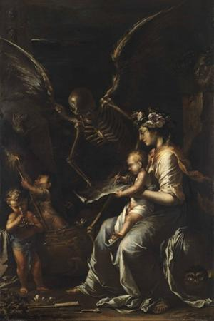 Human Frailty, C.1656 by Salvator Rosa
