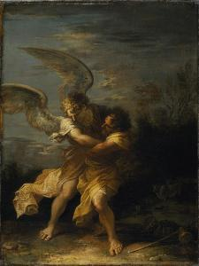 Jacob Wrestling with the Angel by Salvator Rosa