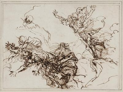 Studies for the Death of Empedocles, after 1666