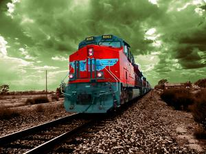 A Classic Vintage Cargo Train in America by Salvatore Elia