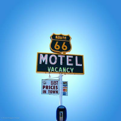 Motel Sign in America on Route 66
