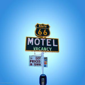 Motel Sign in America on Route 66 by Salvatore Elia
