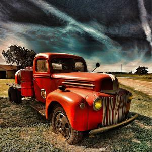 Retro Americana Red Truck by Salvatore Elia