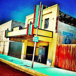 Retro Americana Street Scene with Cinema by Salvatore Elia
