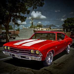 Textured Image of Classic Car in America by Salvatore Elia