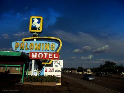 Vintage Motel Sign in America