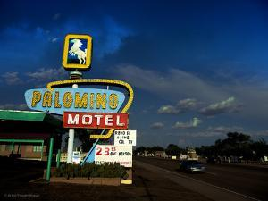 Vintage Motel Sign in America by Salvatore Elia