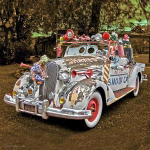 White 1950's Car with Adornments by Salvatore Elia