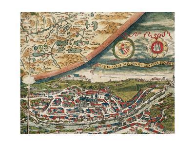 Salzburg and Surroundings. Theatrum Orbis Terrarum by Abraham Ortelius (1527-1598). First Edition.-Abraham Ortelius-Giclee Print