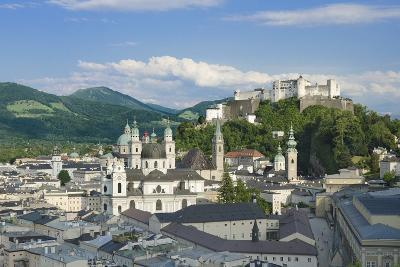 Salzburg City Historic Center with Cathedral-Peter Hermes Furian-Photographic Print