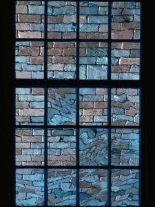 A Window Looks out Upon a Colorful Brick Wall by Sam Abell