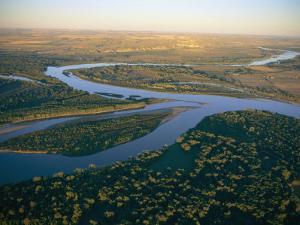 Aerial View of the Confluence of the Yellowstone and Missouri Rivers by Sam Abell
