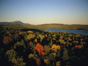 Autumn View across Baxter State Park, Maine by Sam Abell