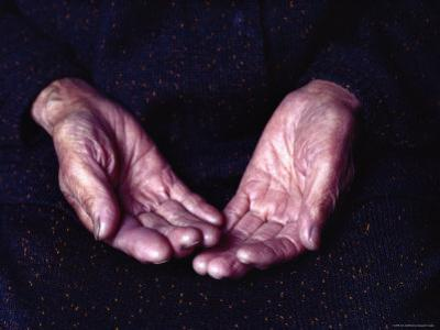 Close-Up of an Old Woman's Hands, Japan