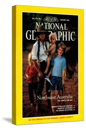 Cover of the January, 1991 National Geographic Magazine