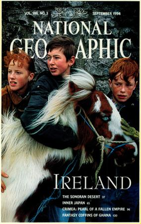 Cover of the September, 1995 National Geographic Magazine