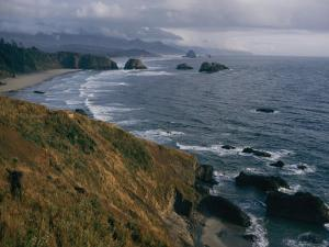 Pacific Surf Upon the Sand at Cannon Beach by Sam Abell