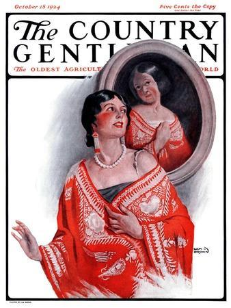 """Ancestral Shawl,"" Country Gentleman Cover, October 18, 1924"