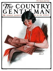 """""""Baby Photos,"""" Country Gentleman Cover, December 6, 1924 by Sam Brown"""