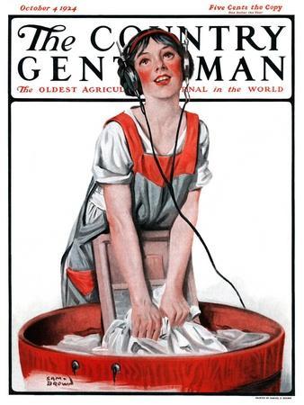 """""""Radio Daze,"""" Country Gentleman Cover, October 4, 1924"""