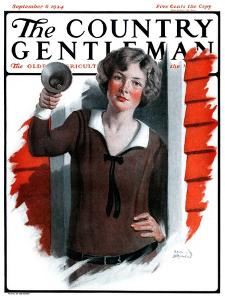 """School Bells Ring,"" Country Gentleman Cover, September 6, 1924 by Sam Brown"