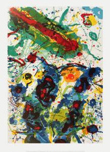 Untitled (1989) by Sam Francis
