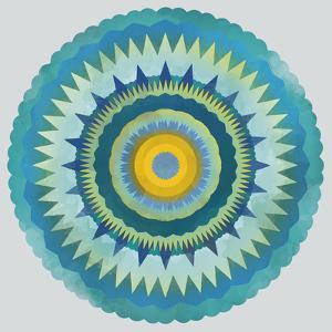 Mandala Floral - Aqua by Sam Kemp
