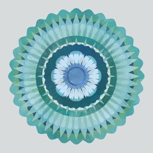 Mandala Floral - Azure by Sam Kemp