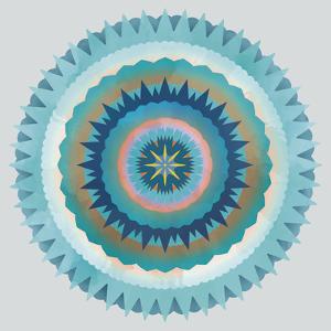 Mandala Floral - Cerulean by Sam Kemp