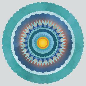 Mandala Floral - Cobalt by Sam Kemp