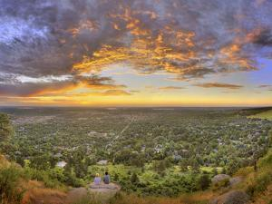 Panoramic Shot of Boulder at Sunset by Sam Kittner