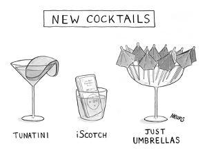 New Cocktails - New Yorker Cartoon by Sam Means