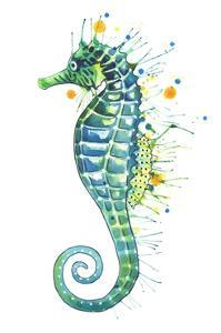 Green Seahorse by Sam Nagel