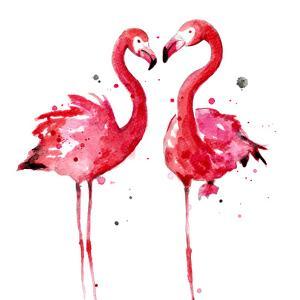 Pink Flamingos by Sam Nagel