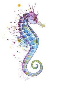 Purple Seahorse by Sam Nagel