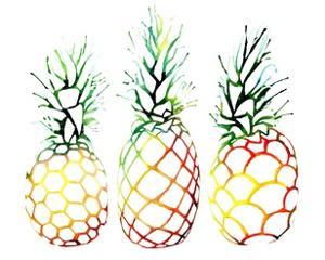 Retro Pineapples by Sam Nagel