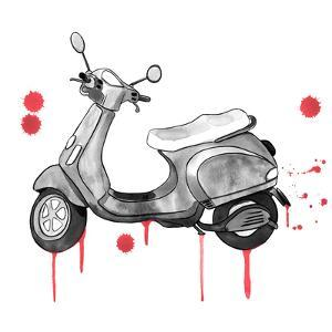 Scooter Away Red Accents by Sam Nagel