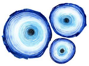 Tree Ring Trio Indigo by Sam Nagel