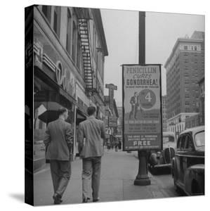 Sign Advertising Penicillin as Treatment For Gonorrhea by Sam Shere
