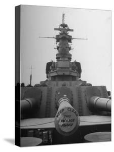The Battleship South Dakota Resting in the Ship Storage Yard with It's Guns Sealed by Sam Shere