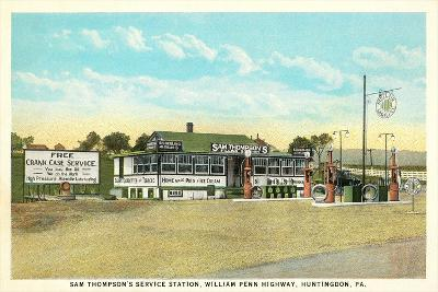 Sam Thompson Service Station, Huntingdon, PA--Art Print