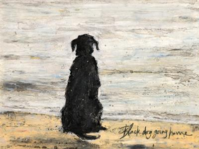 Black Dog Going Home by Sam Toft
