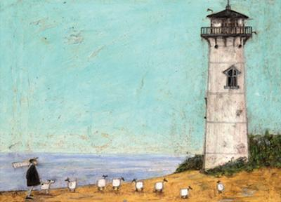 Seven Sisters And A Lighthouse by Sam Toft