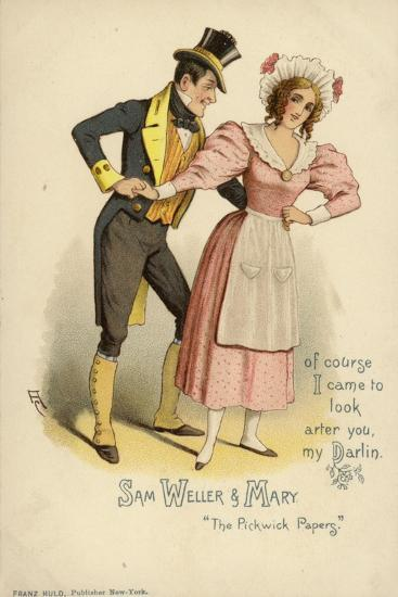 Sam Weller and Mary, from the Pickwick Papers--Giclee Print