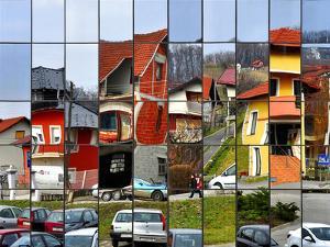 Rubik's Town by Samanta