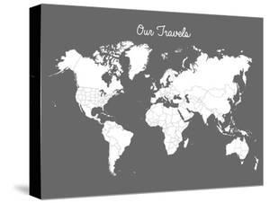 World maps canvas artwork for sale posters and prints at art our travels steel gumiabroncs Images