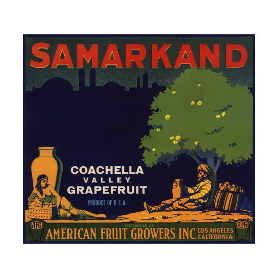 Samarkand Brand - Los Angeles, California - Citrus Crate Label-Lantern Press-Art Print