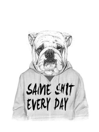 Same Shit Every Day-Balazs Solti-Giclee Print