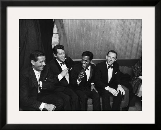 Sammy Davis Jr Rat Pack 1960 Framed Photographic Print By Moneta