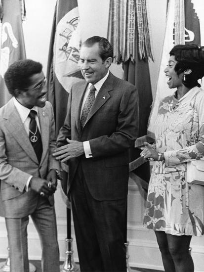 Sammy Davis Jr., Richard Nixon - 1971-Maurice Sorrell-Photographic Print